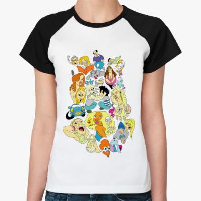Женская футболка реглан  'Город'