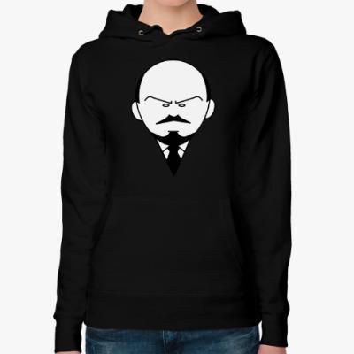 Женская толстовка худи Ленин