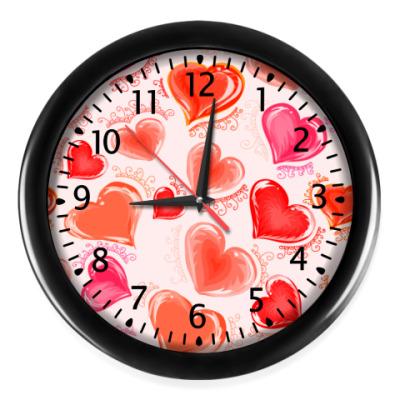 Настенные часы Сердечки