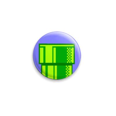 "Значок 25мм ""Green tube""  25 мм"