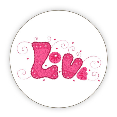 Костер (подставка под кружку) Pink Love