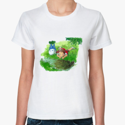 Классическая футболка 'Мой сосед Тоторо'