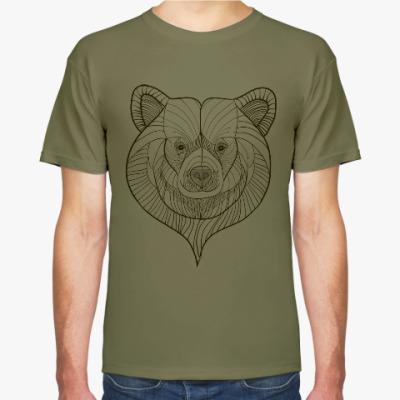 Футболка Голова медведя