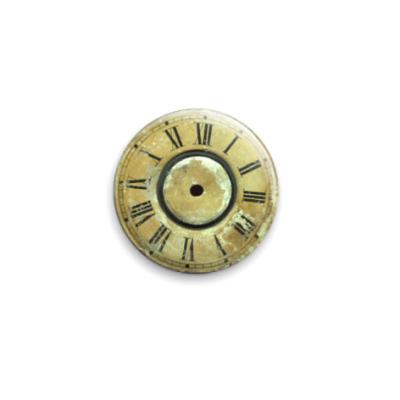 "Значок 25мм ""Old clock""  25 мм"