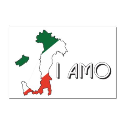 Наклейка (стикер) Я люблю тебя по-итальянски