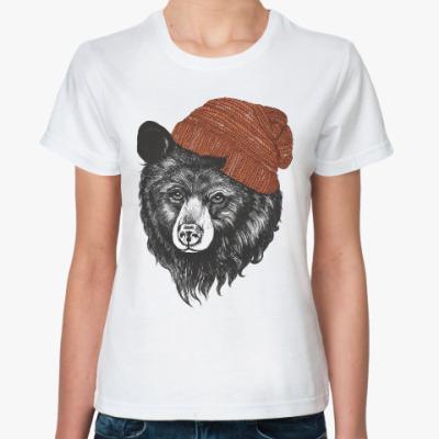 Классическая футболка Медведь в шапке