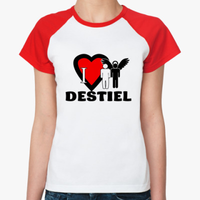 Женская футболка реглан Я люблю Дина и Каса