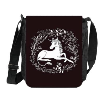 Сумка на плечо (мини-планшет) Единорог