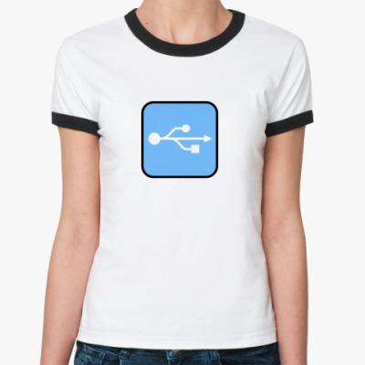 Женская футболка Ringer-T USB