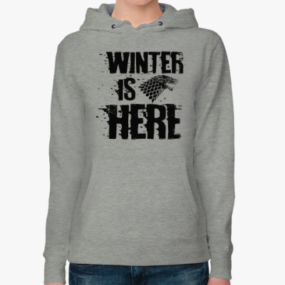 Женская толстовка худи Игра престолов. Winter is here