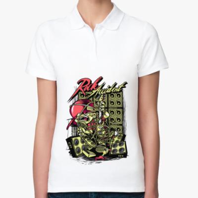 Женская рубашка поло Рок