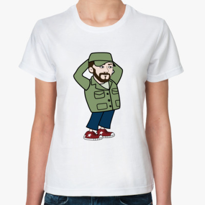 Классическая футболка  футболка Шнуров