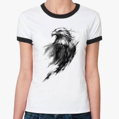 Женская футболка Ringer-T Орёл