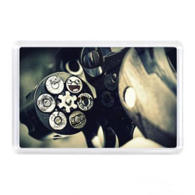 Магнит Револьвер и 6 пуль