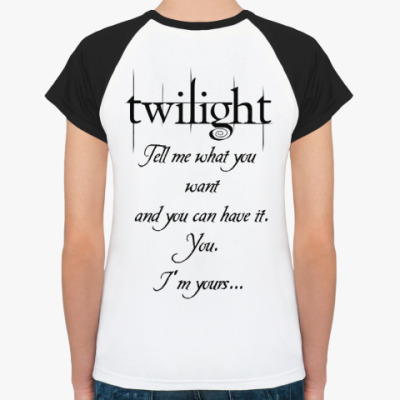 Женская футболка реглан Bella and Edward