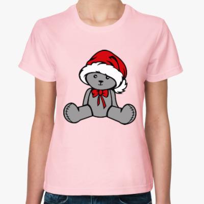 Женская футболка Мишка
