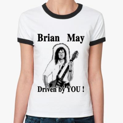 Женская футболка Ringer-T  Brian May