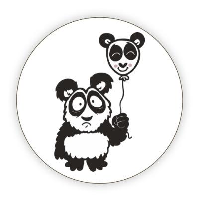 Костер (подставка под кружку) Панда с шариком