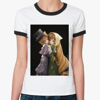 Женская футболка Ringer-T  Rozen Maiden Ж