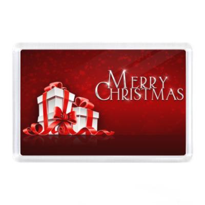 Магнит Merry Cristmas, Рождество
