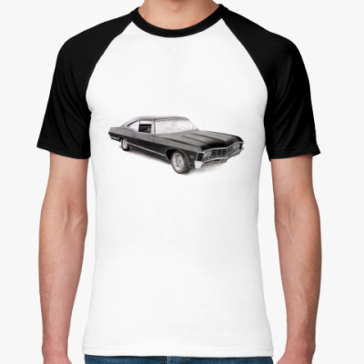 Футболка реглан Impala  М (бел/чёрн)