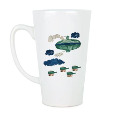Чашка Латте Спасибо деду за победу