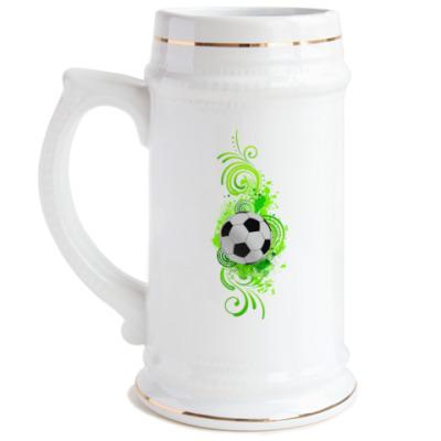 Пивная кружка Футбольный мяч