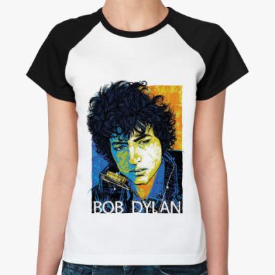 Женская футболка реглан Bob Dylan