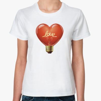 Классическая футболка сердце любовь дружба для двоих