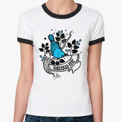 Женская футболка Ringer-T Follow Me  Ж()