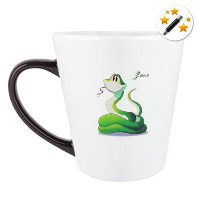 Кружка-хамелеон Год Змеи