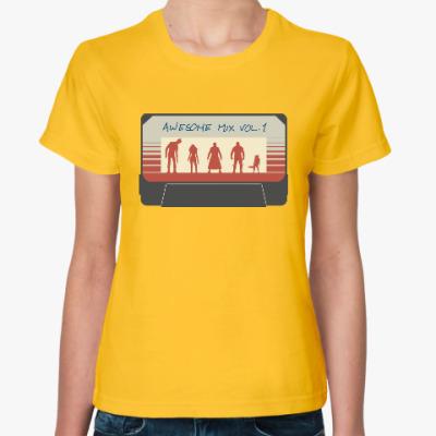 Женская футболка Стражи галактики - кассета