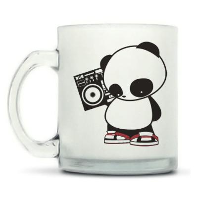 Кружка матовая Панда с магнитофоном