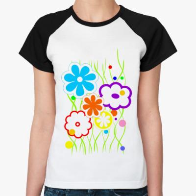 Женская футболка реглан Лето