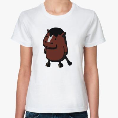 Классическая футболка  'Лошадка'