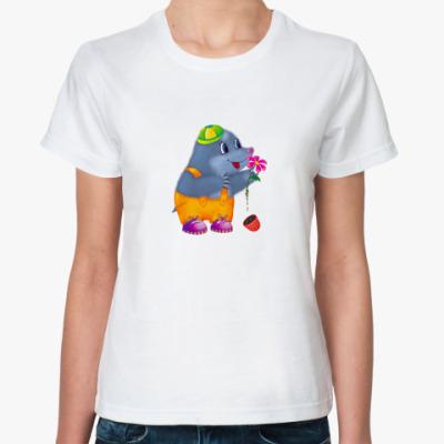 Классическая футболка Малыш-крот