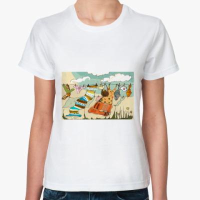 Классическая футболка ветер