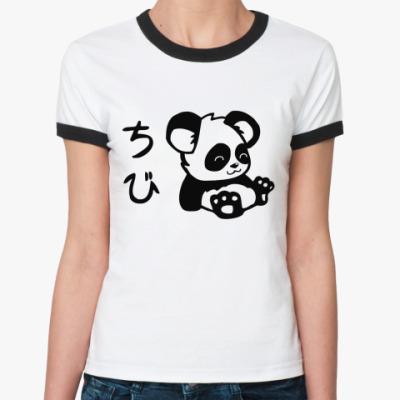 Женская футболка Ringer-T Panda  Ж()