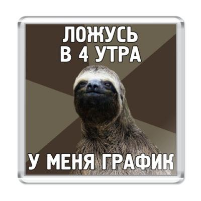 Магнит  Ленивец