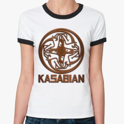 Женская футболка Ringer-T Kasabian