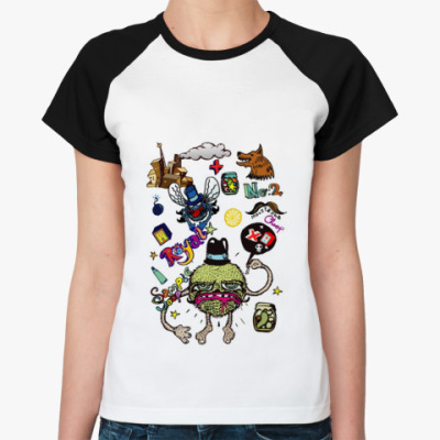 Женская футболка реглан Monsters