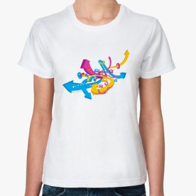 Классическая футболка  футболка Стрелки