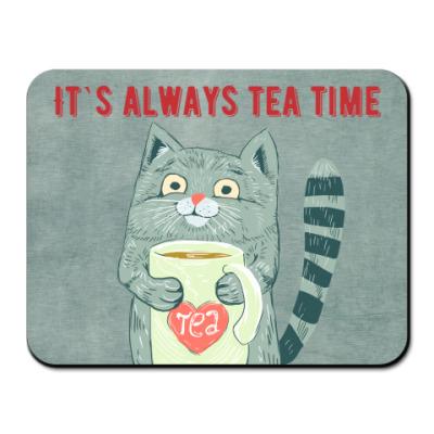 Коврик для мыши время чая