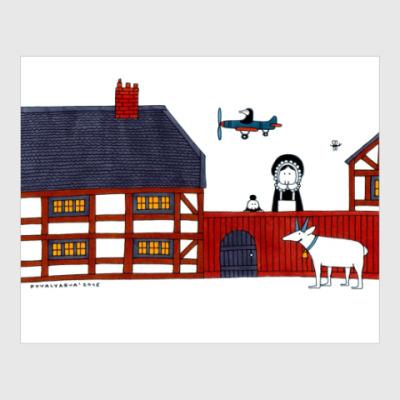 Постер Village scene