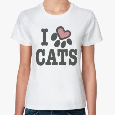 Классическая футболка Люблю Котов