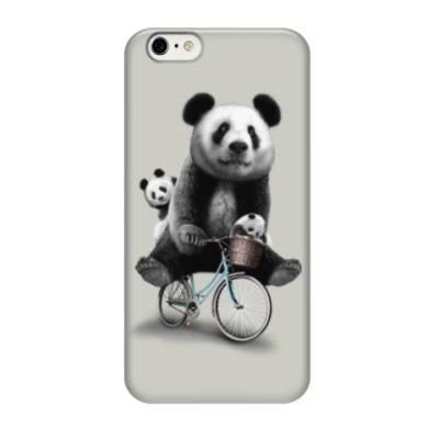 Чехол для iPhone 6/6s Панды на велосипеде