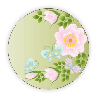 Костер (подставка под кружку) Розовый шиповник