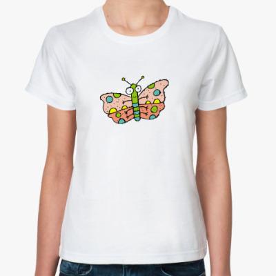 Классическая футболка  Бабочка QR