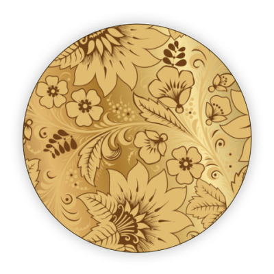 Костер (подставка под кружку) Golden Khokhloma