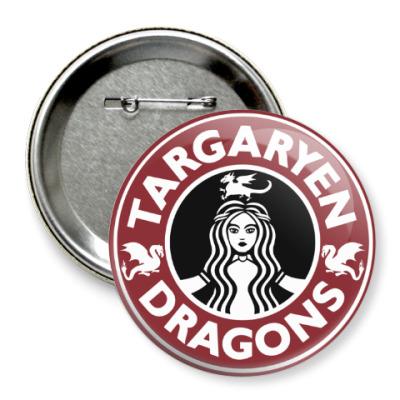 Значок 75мм Драконы Таргариен